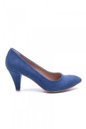 Matraş Lacivert MT-1797-L Klasik Topuk Bayan Ayakkabı