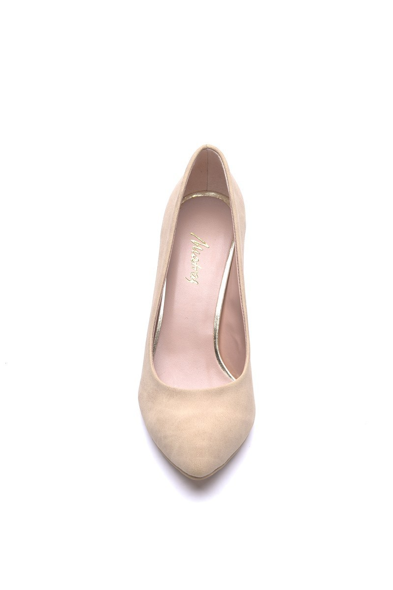 Matraş Bej MT-1797-B Klasik Topuk Bayan Ayakkabı