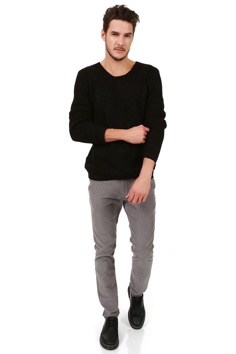 Let's Go Jeans Siyah 15k5451 Erkek Kazak