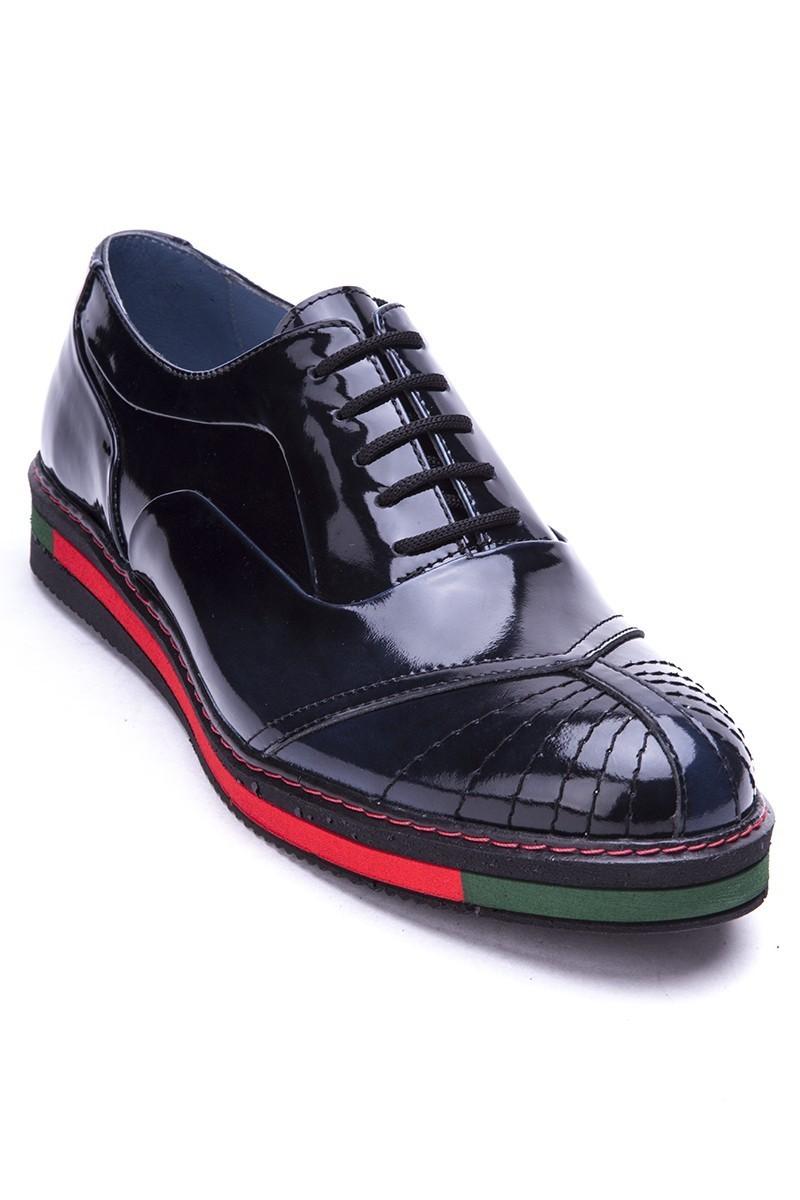 BLUESOIL Siyah-Lacivert BS-20-27 Hakiki Deri Erkek Ayakkabı