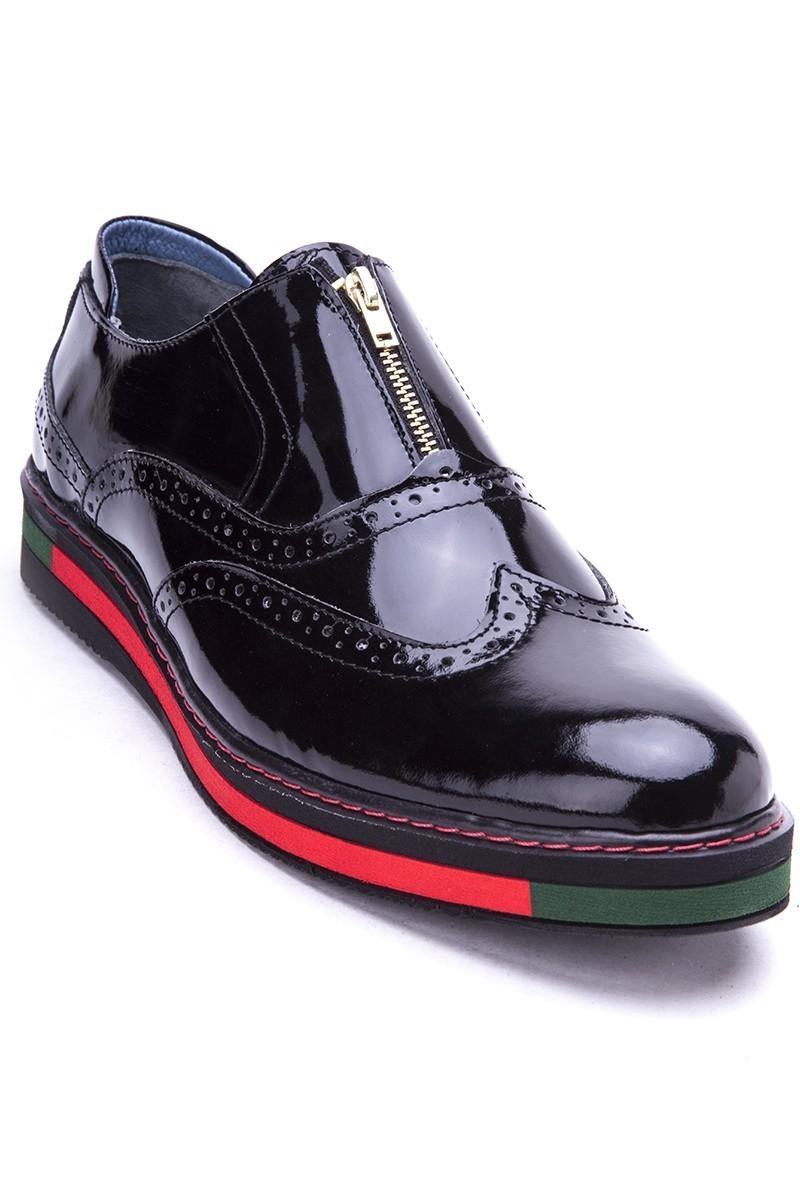 BLUESOIL Siyah BS-20-28 Hakiki Deri Erkek Ayakkabı