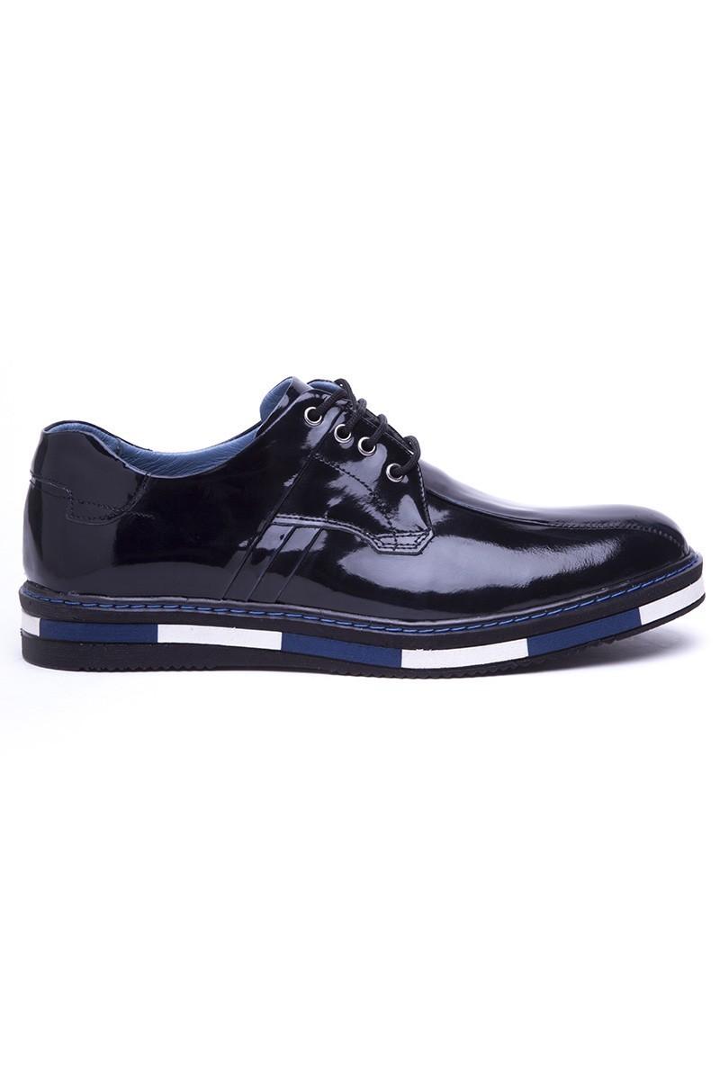 BLUESOIL Lacivert BS-20-22-ACMA Hakiki Deri Erkek Ayakkabı