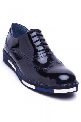 BLUESOIL Lacivert BS-20-32 Hakiki Deri Erkek Ayakkabı