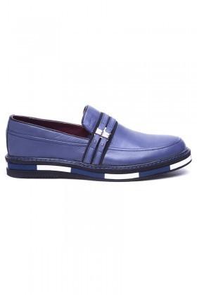 BLUESOIL Lacivert BS-20-33 Hakiki Deri Erkek Ayakkabı
