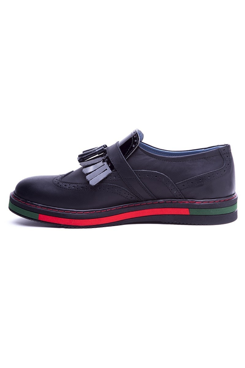 BLUESOIL Siyah BS-20-34 Hakiki Deri Erkek Ayakkabı