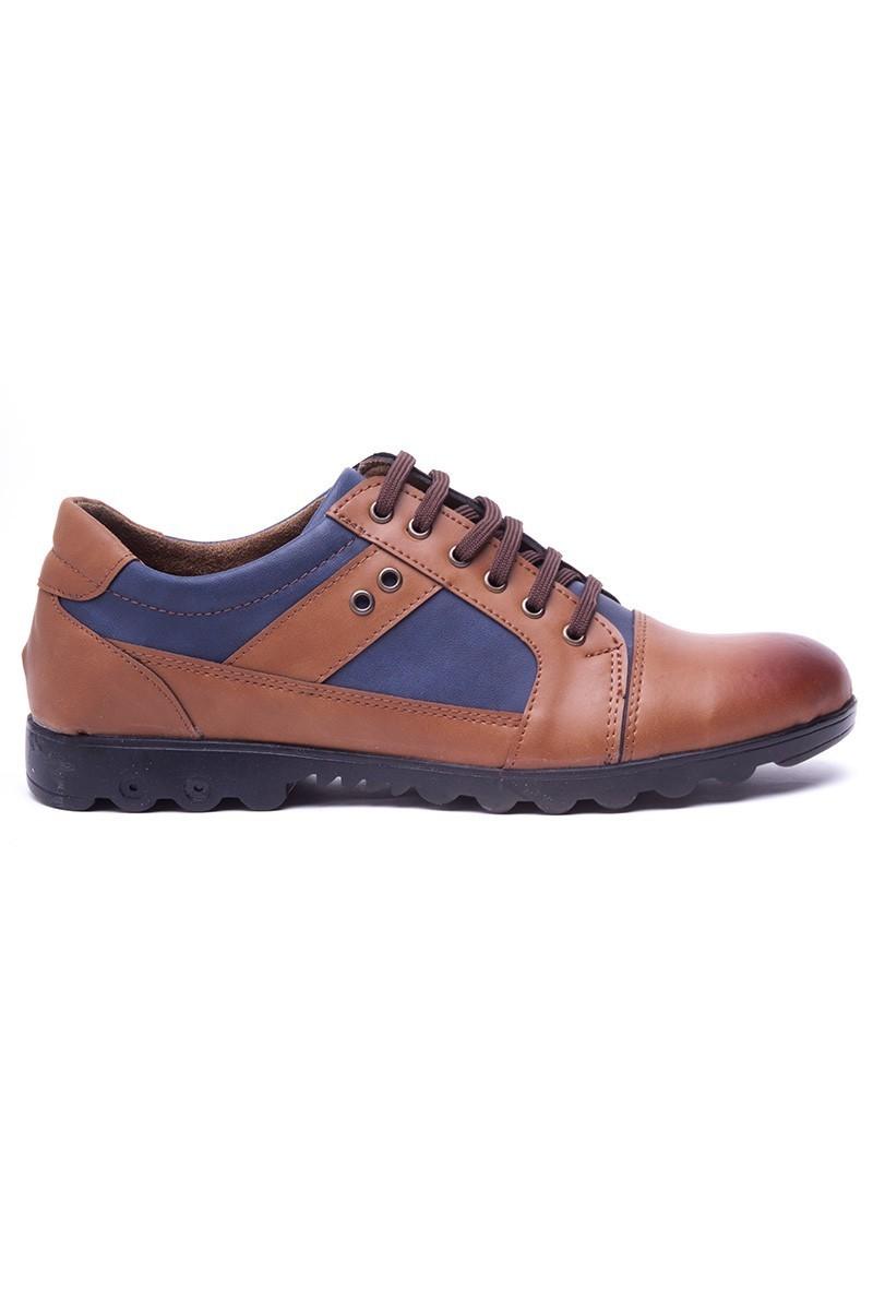 Polomen Taba-Lacivert PLM-1120 Erkek Ayakkabı