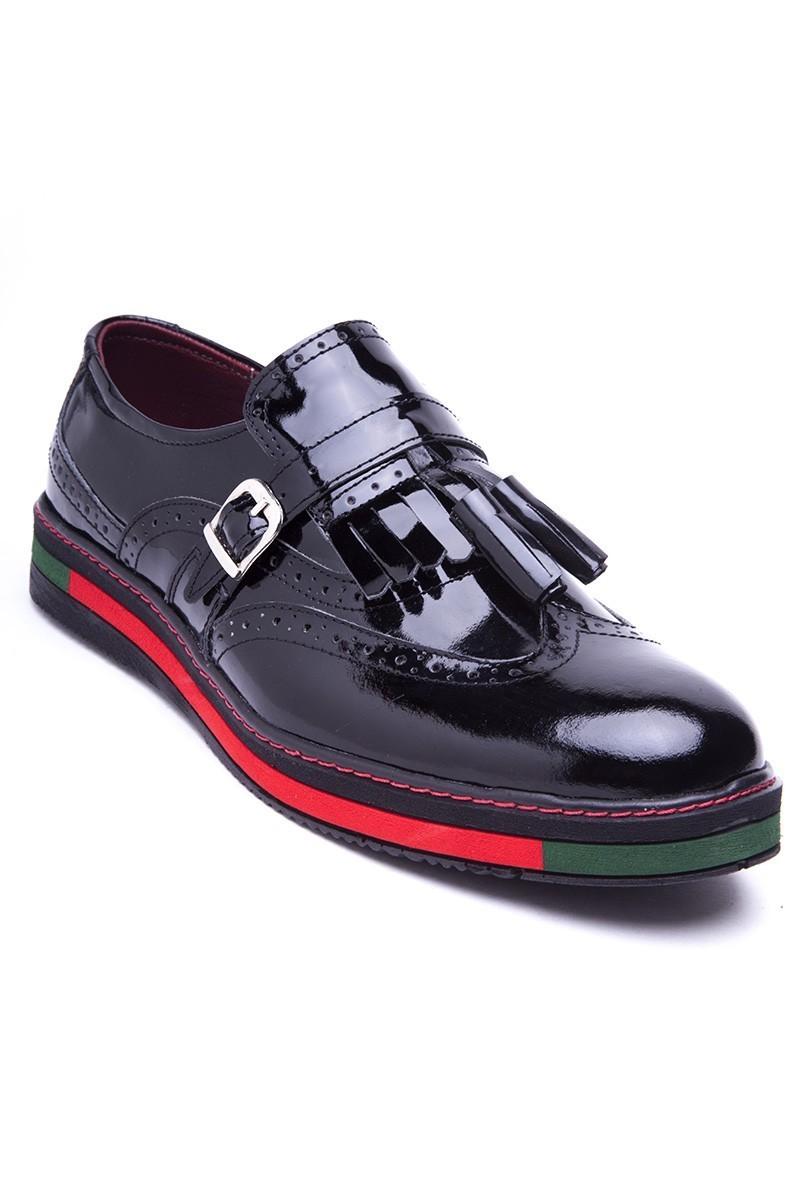 BLUESOIL Siyah BS-20-34-RGN Hakiki Deri Erkek Ayakkabı