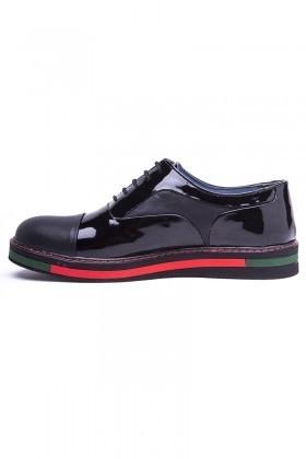 BLUESOIL Siyah BS-20-26-RGN Hakiki Deri Erkek Ayakkabı