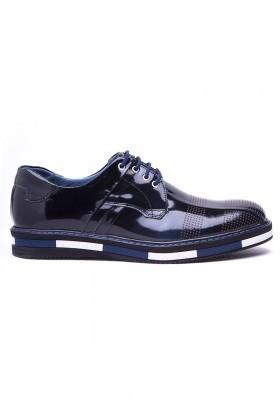 BLUESOIL Lacivert BS-20-39 Hakiki Deri Erkek Ayakkabı