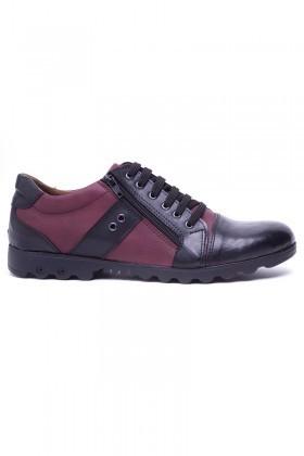 Polomen Siyah-Bordo PLM-1100 Erkek Ayakkabı