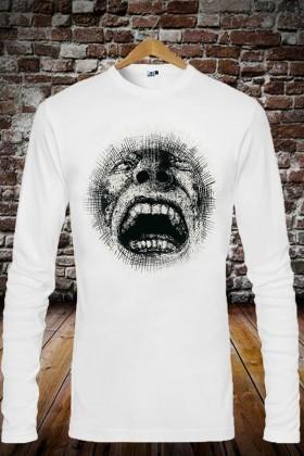 Benekli Fil Beyaz BF-EU049 Erkek Sweatshirt