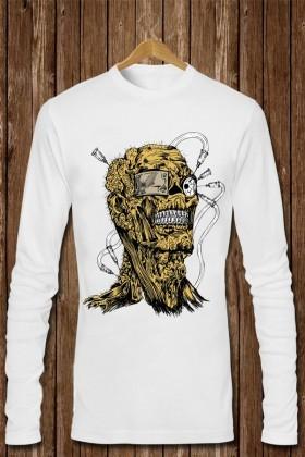 Benekli Fil Beyaz BF-E031 Erkek Sweatshirt