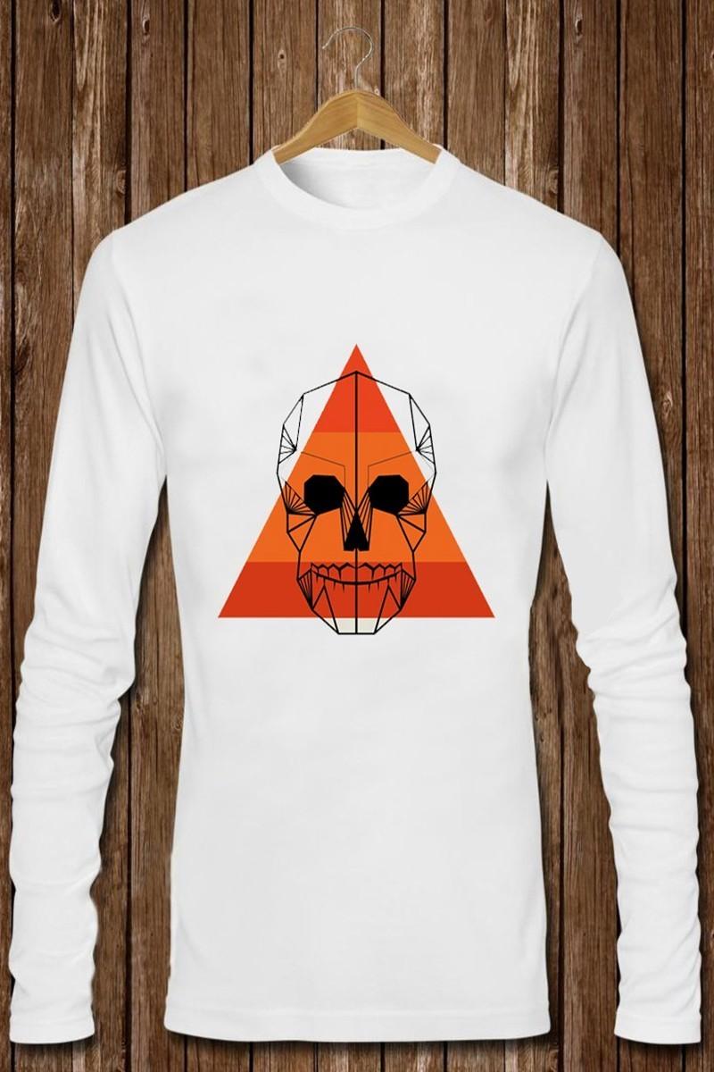Benekli Fil Beyaz BF-E024 Erkek Sweatshirt