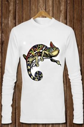 Benekli Fil Beyaz BF-E023 Erkek Sweatshirt