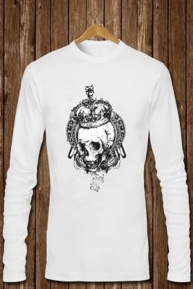 Benekli Fil Beyaz BF-E020 Erkek Sweatshirt