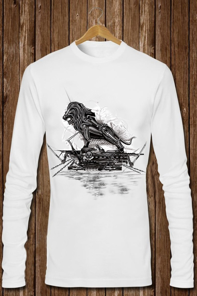 Benekli Fil Beyaz BF-E015 Erkek Sweatshirt