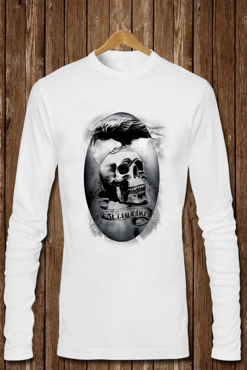 Benekli Fil Beyaz BF-E0322 Erkek Sweatshirt
