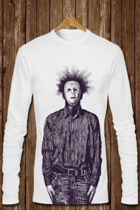 Benekli Fil Beyaz BF-E0199 Erkek Sweatshirt