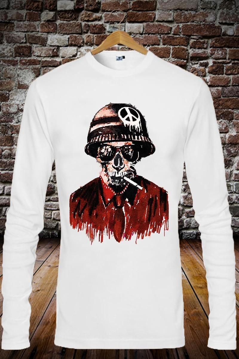 Benekli Fil Beyaz BF-E0188 Erkek Sweatshirt