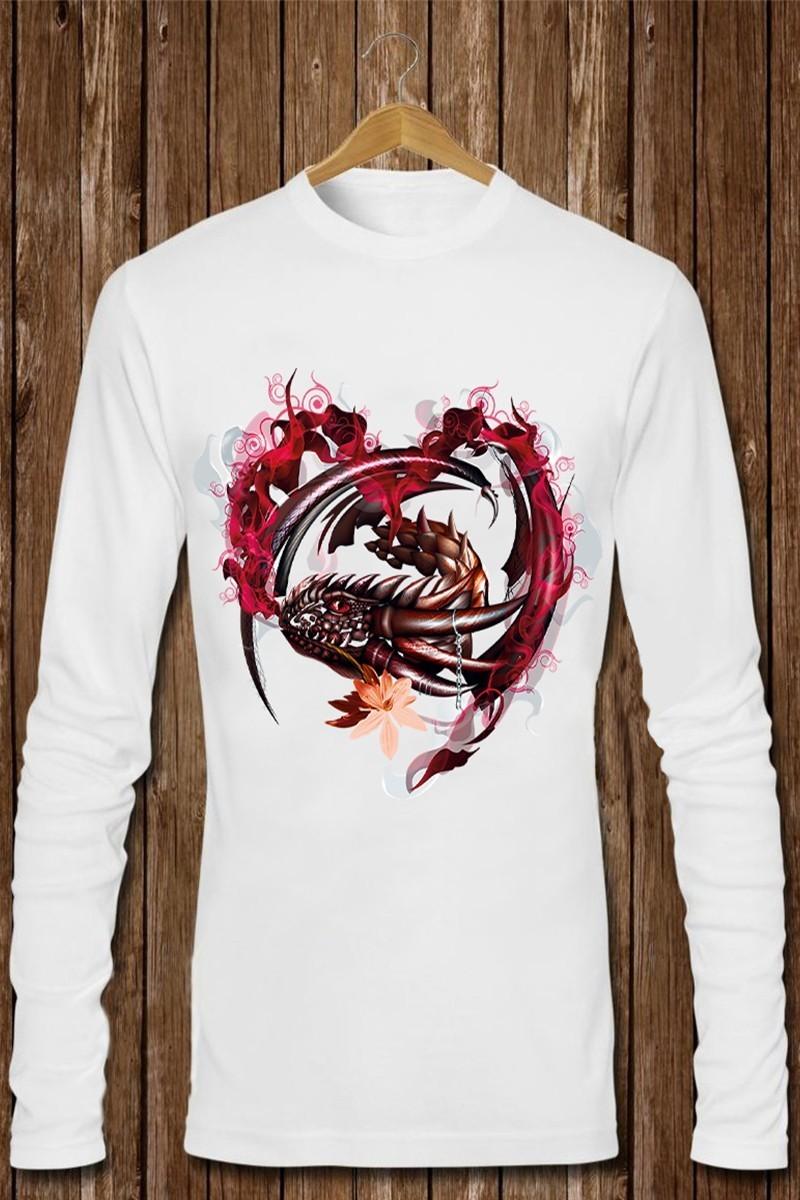 Benekli Fil Beyaz BF-E0133 Erkek Sweatshirt