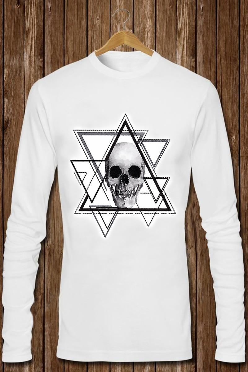 Benekli Fil Beyaz BF-E0100 Erkek Sweatshirt