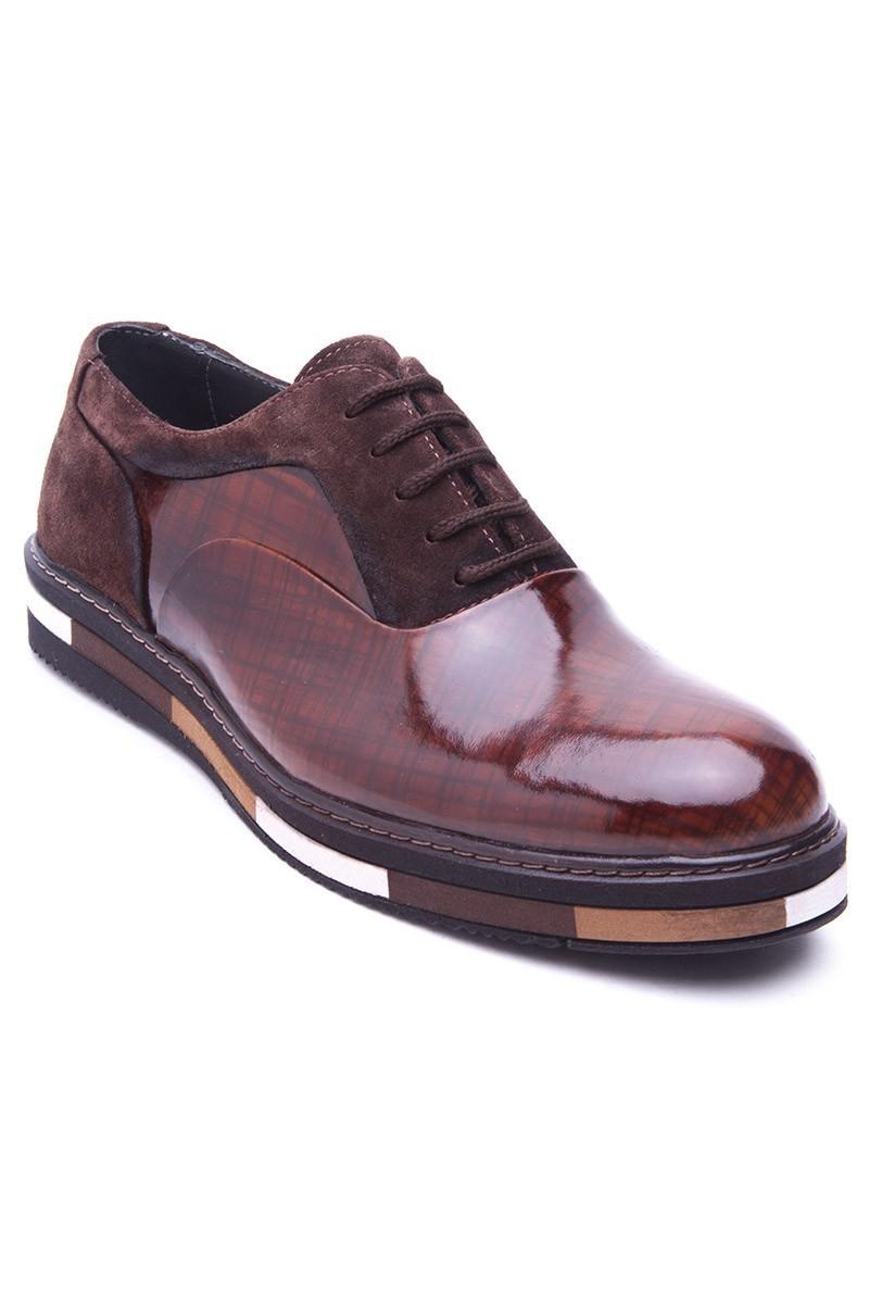 BLUESOIL Kahverengi BS-20-37 Hakiki Deri Erkek Ayakkabı