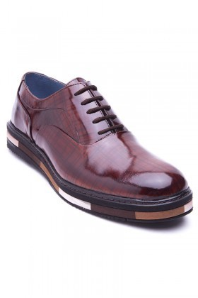 BLUESOIL Kahverengi BS-20-29 Hakiki Deri Erkek Ayakkabı