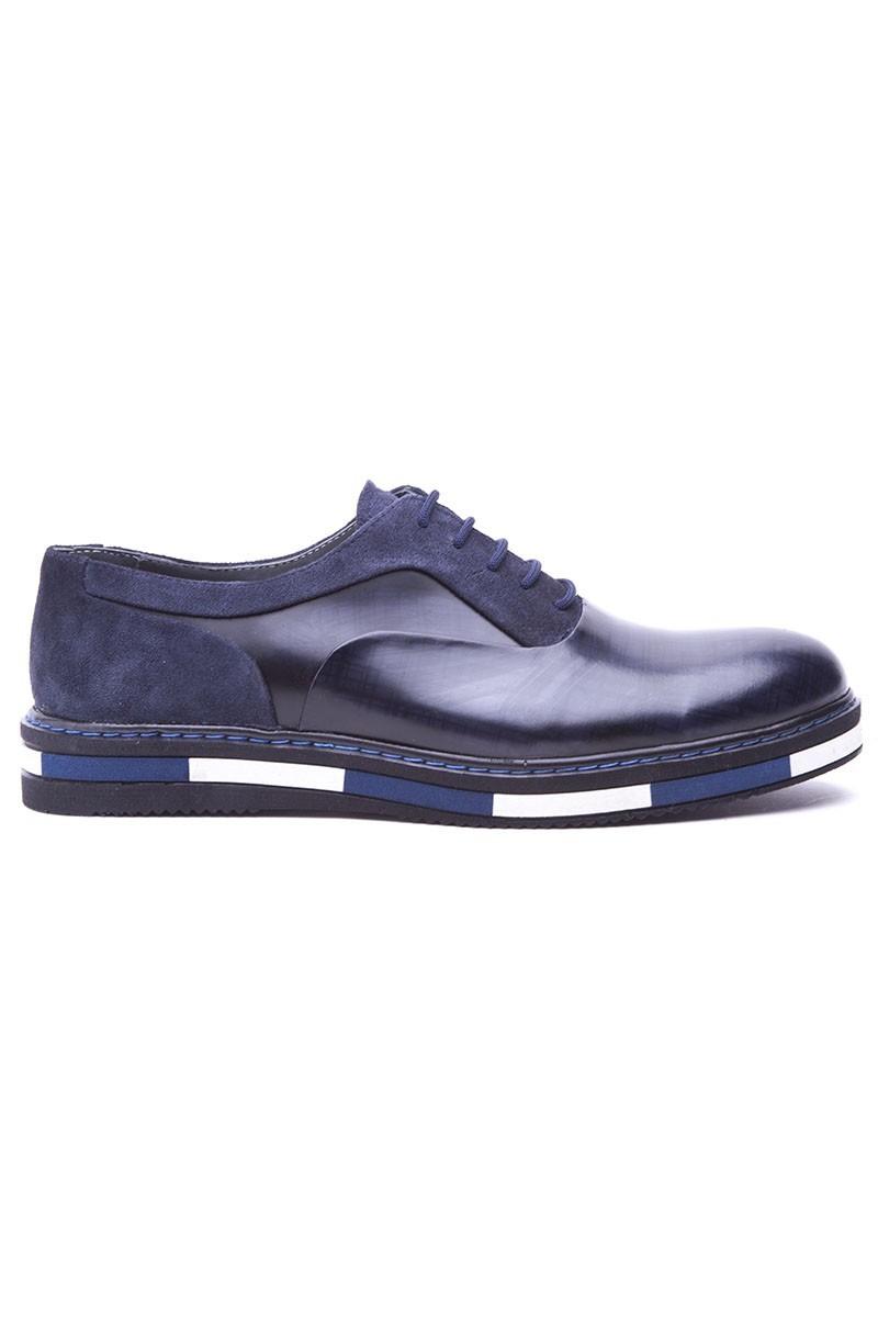 BLUESOIL Lacivert BS-20-37 Hakiki Deri Erkek Ayakkabı
