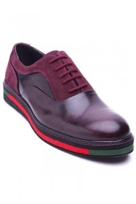 BLUESOIL Bordo BS-20-37 Hakiki Deri Erkek Ayakkabı