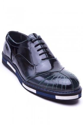 BLUESOIL Koyu Yeşil BS-20-27-ACMA Hakiki Deri Erkek Ayakkabı