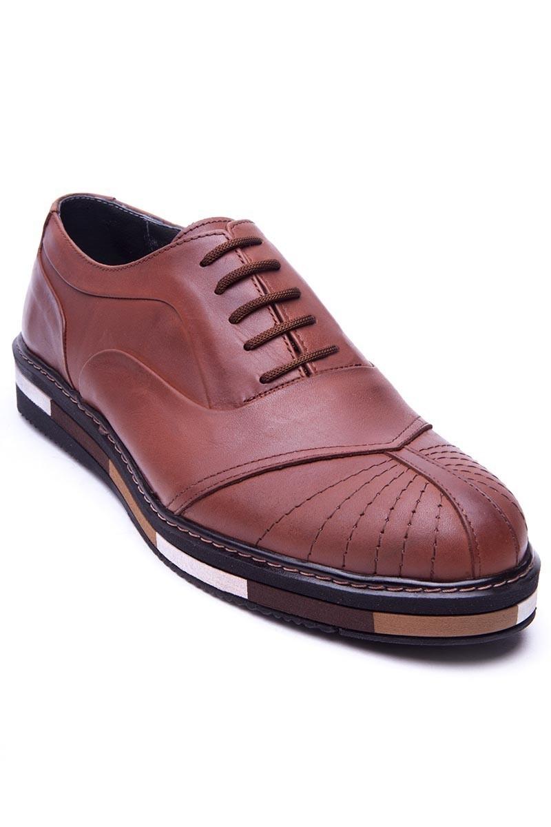 BLUESOIL Taba BS-20-27-MAT Hakiki Deri Erkek Ayakkabı