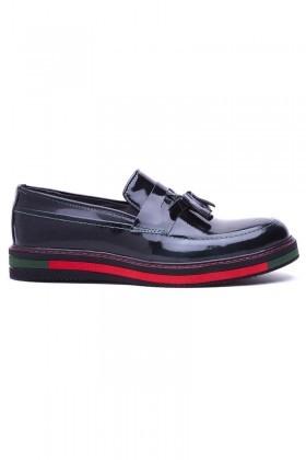 BLUESOIL Koyu Yeşil BS-20-24-ACMA Hakiki Deri Erkek Ayakkabı