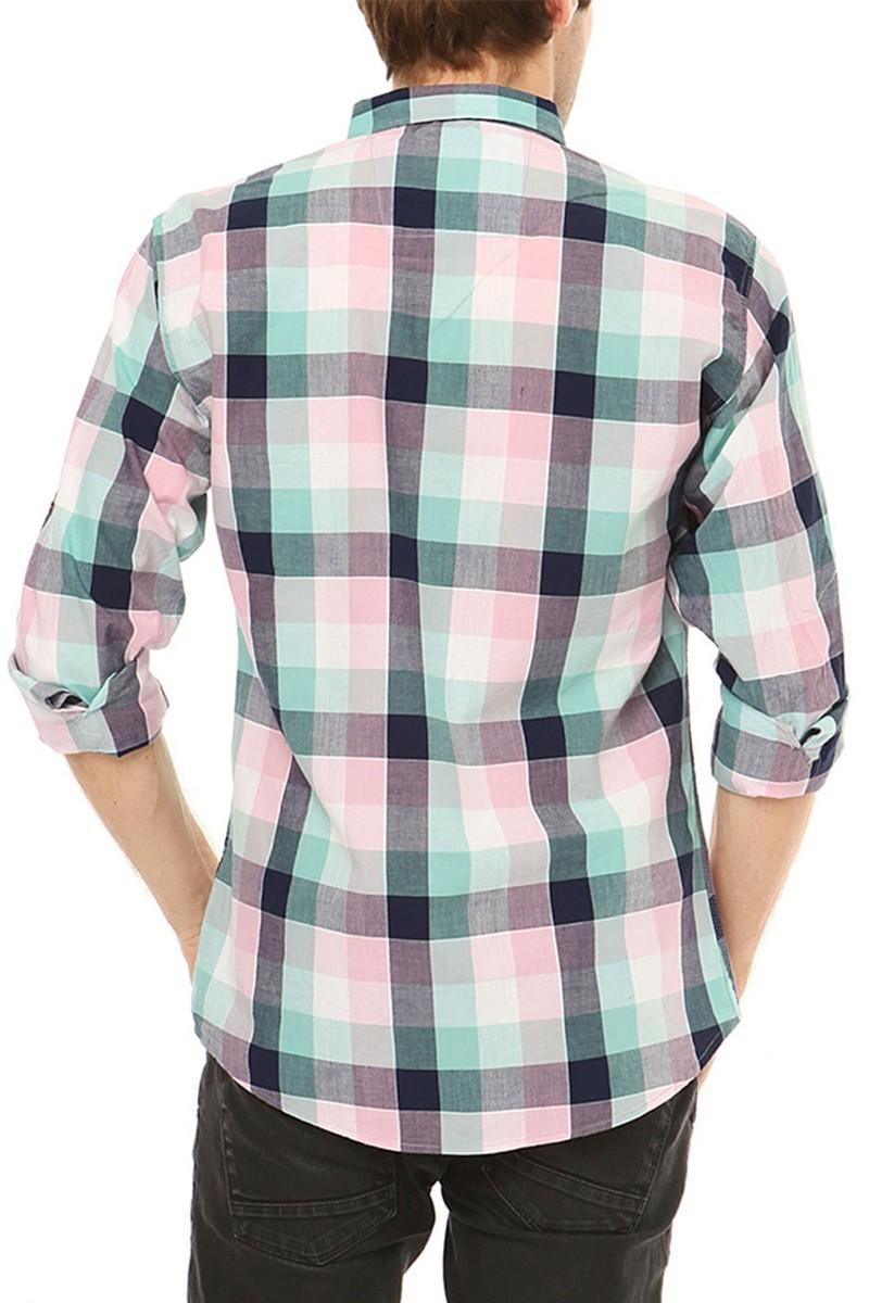 Let's Go Jeans Petrol Mavisi 14Y6237-P Erkek Gömlek