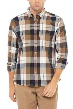 Let's Go Jeans Kahverengi 14Y6234-K Erkek Gömlek