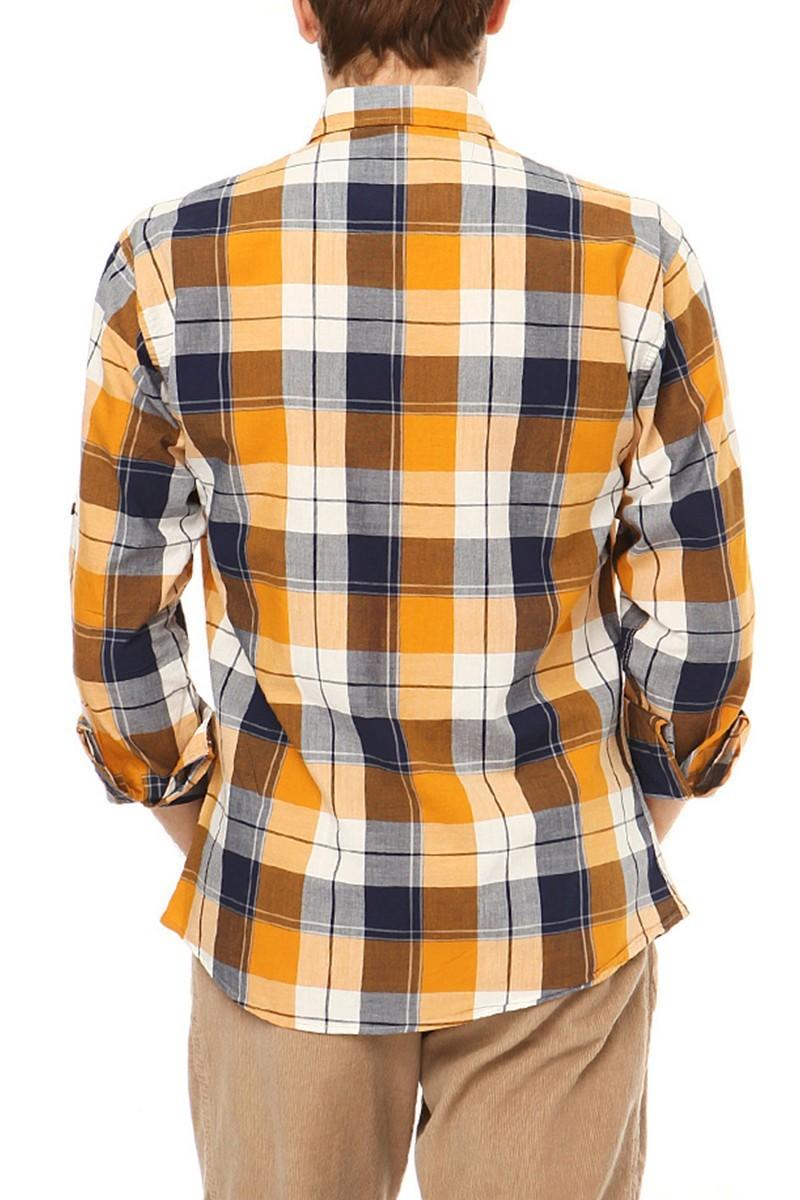 Let's Go Jeans Sarı 14Y6234 Erkek Gömlek