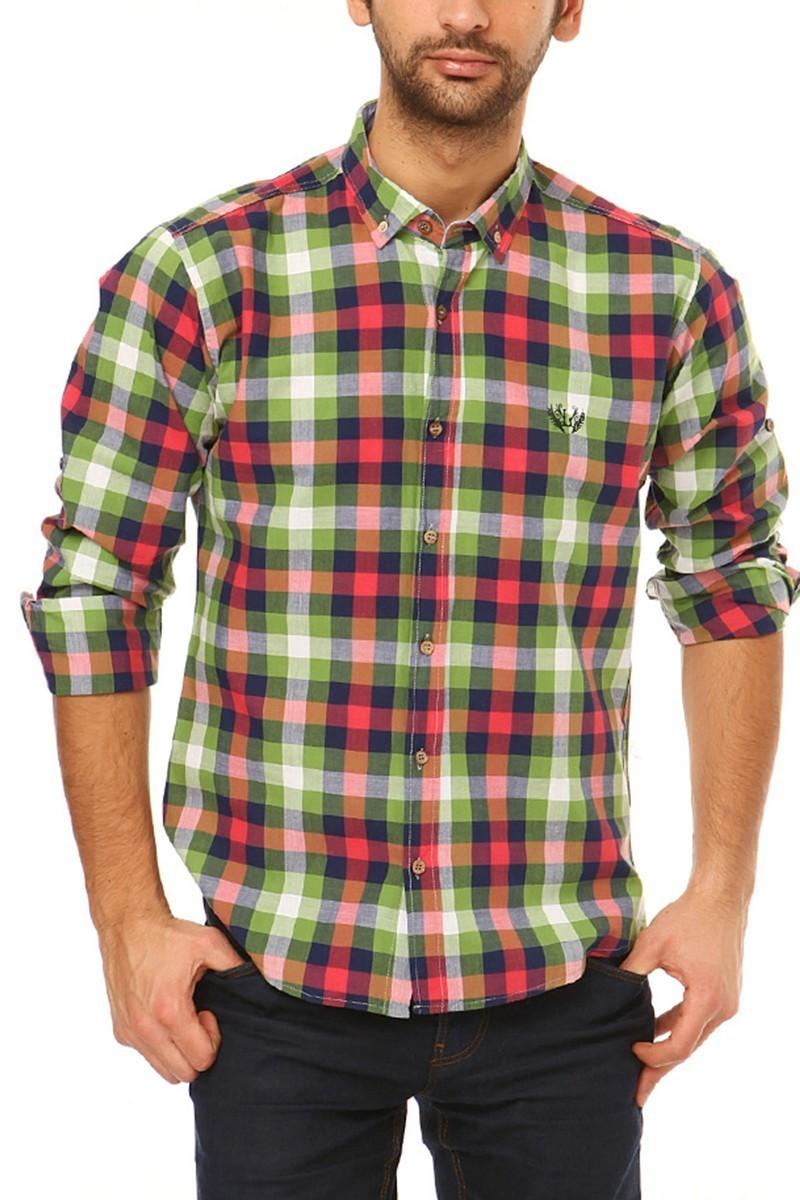 Let's Go Jeans Yeşil 14Y6233-Y Erkek Gömlek