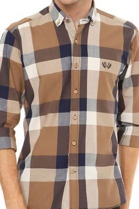 Let's Go Jeans Kahverengi 14Y6232-K Erkek Gömlek