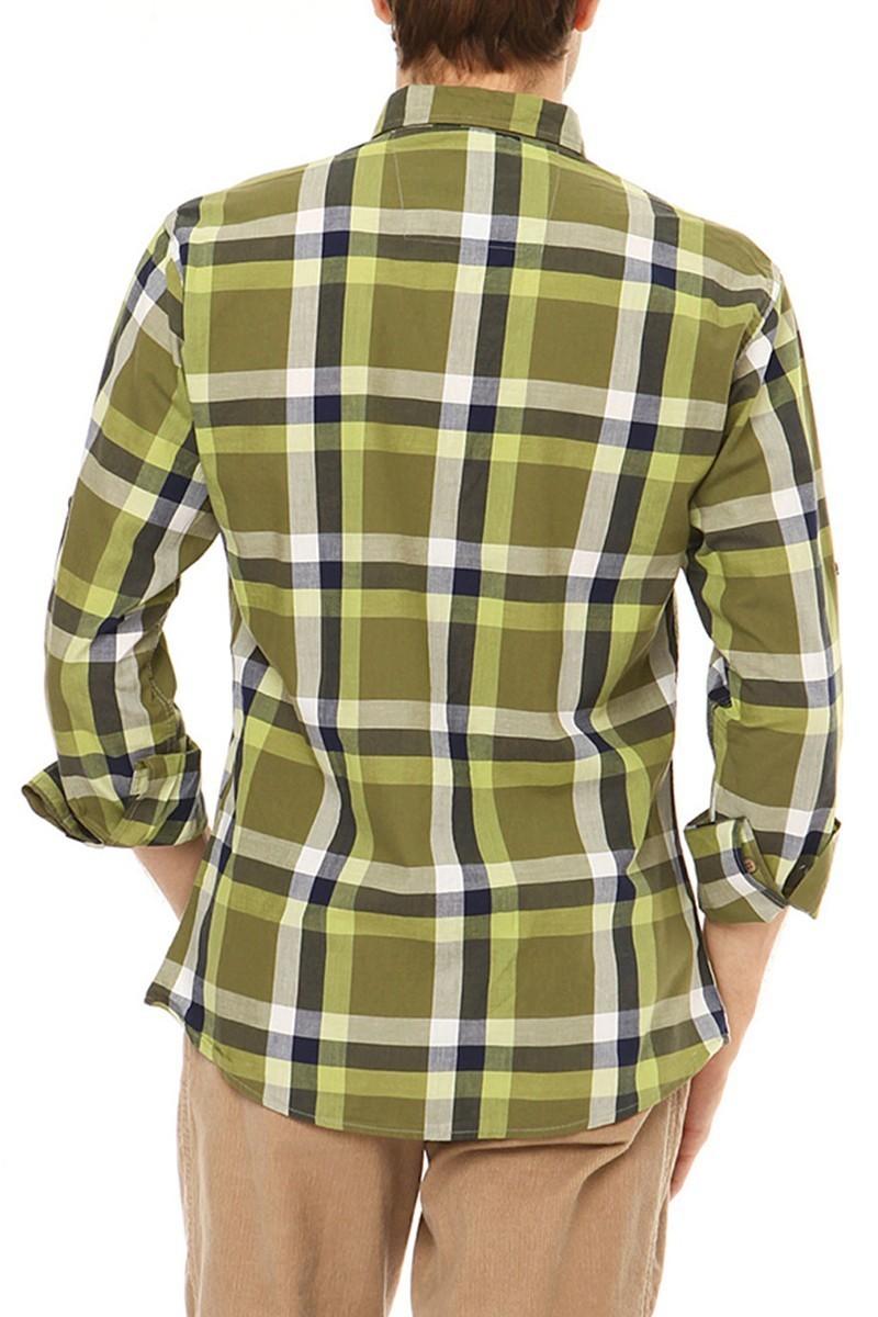 Let's Go Jeans Yeşil 14Y6231-Y Erkek Gömlek