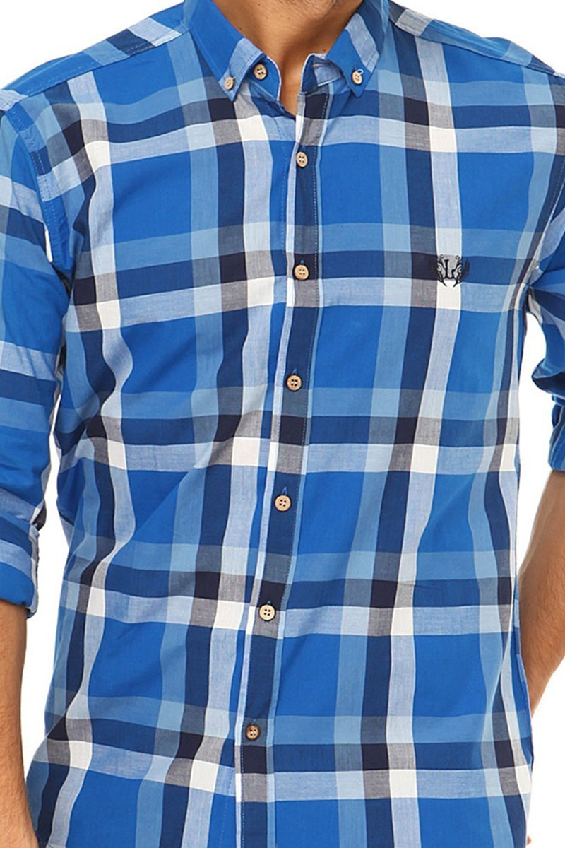 Let's Go Jeans Mavi 14Y6231-M Erkek Gömlek