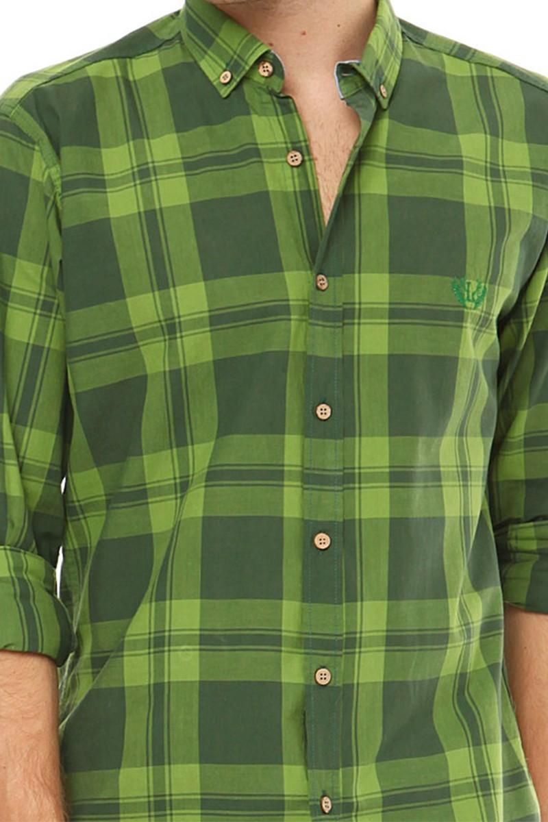 Let's Go Jeans Yeşil 14Y6229-Y Erkek Gömlek