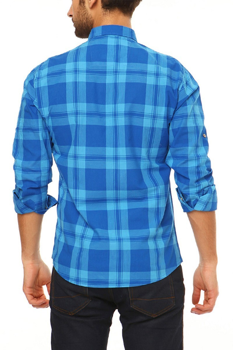 Let's Go Jeans Mavi 14Y6229-M Erkek Gömlek