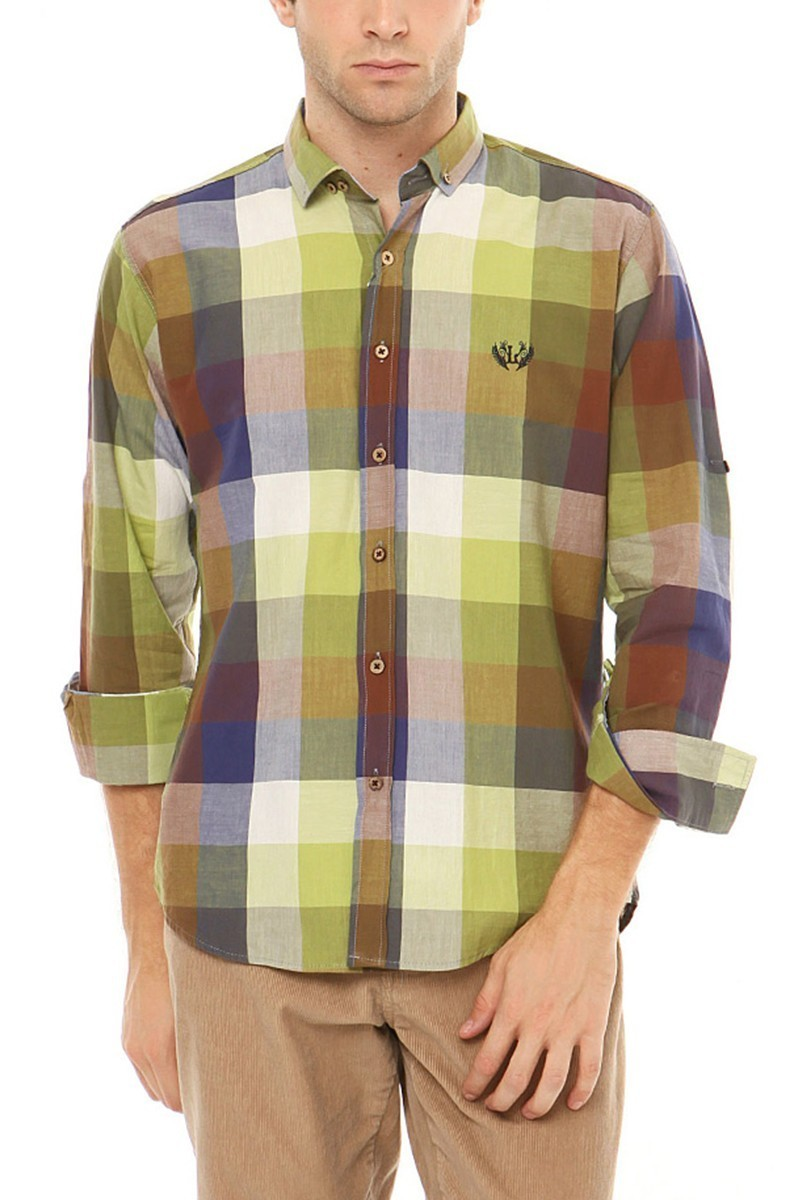 Let's Go Jeans Yeşil 14Y6228-Y Erkek Gömlek