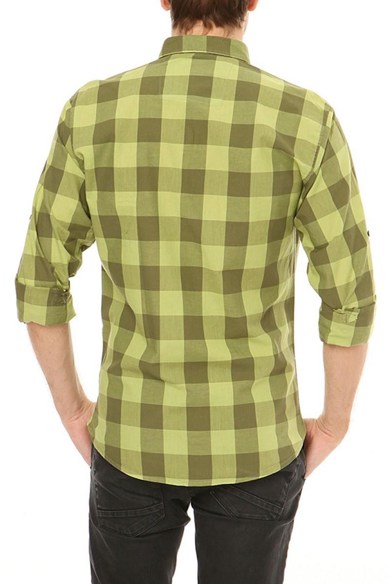 Let's Go Jeans Yeşil 14Y6227-Y Erkek Gömlek