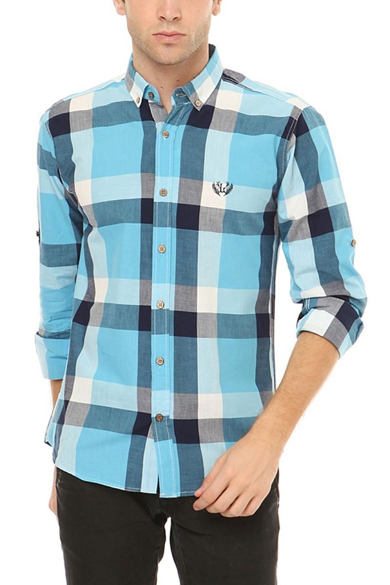 Let's Go Jeans Mavi 14Y6226-M Erkek Gömlek