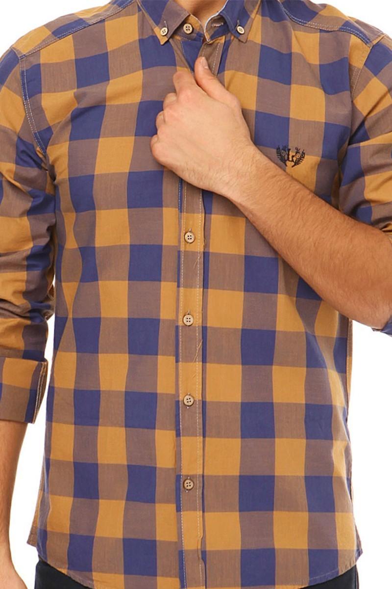 Let's Go Jeans Kahverengi 14Y6226-K Erkek Gömlek