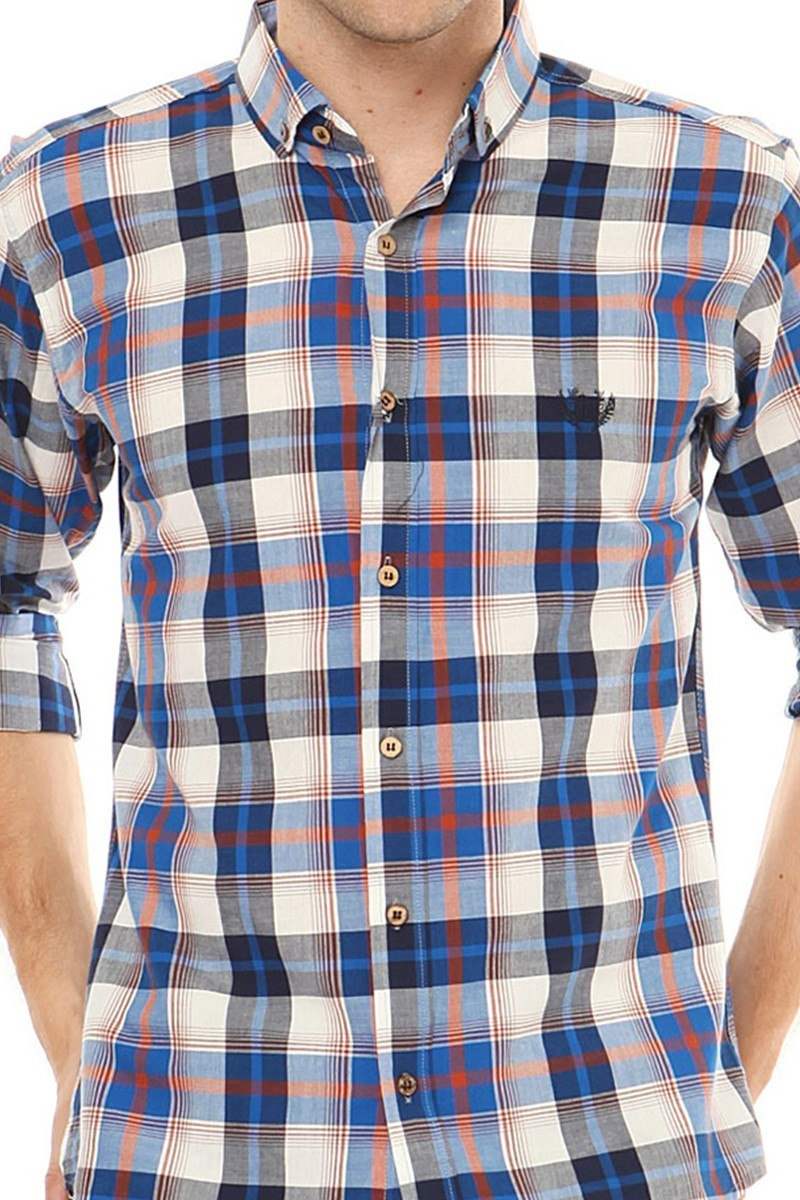 Let's Go Jeans Mavi 14Y6225-M Erkek Gömlek