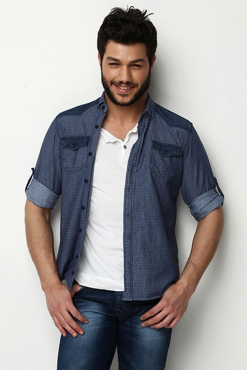Let's Go Jeans Mavi 14Y6224 Erkek Gömlek