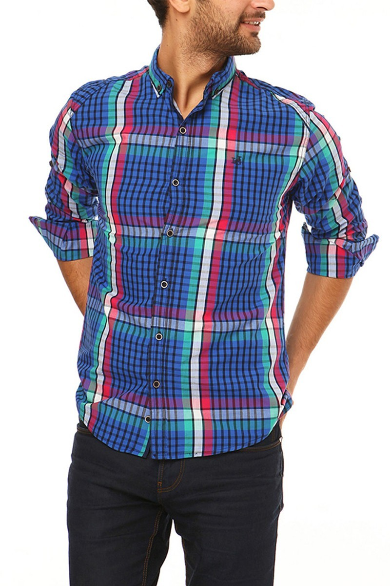 Let's Go Jeans Lacivert 14Y6209 Erkek Gömlek