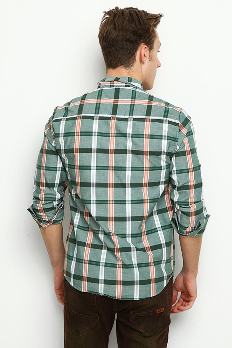 Let's Go Jeans Yeşil 14Y6208-Y Erkek Gömlek