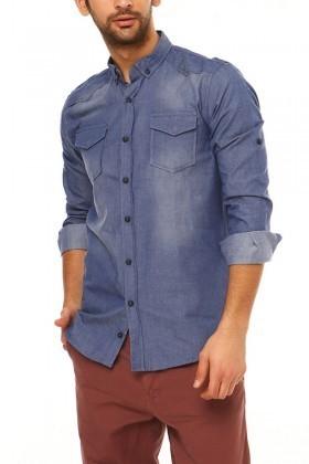 Let's Go Jeans Mavi 14Y6206-MA Erkek Gömlek